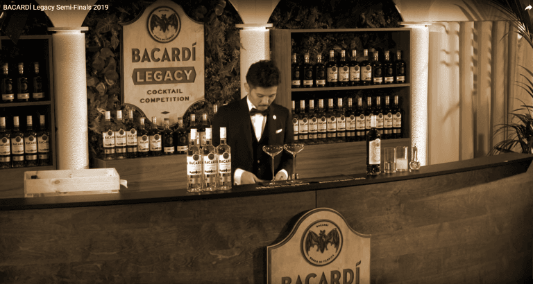 Bacardi Legacy aanmaak decor