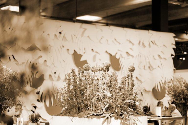 Beurs decoratie JAVA Antwerp Expo Duurzaamheid